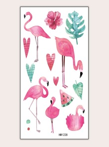 Flamingo & Watermelon Shaped Tattoo Sticker 1sheet