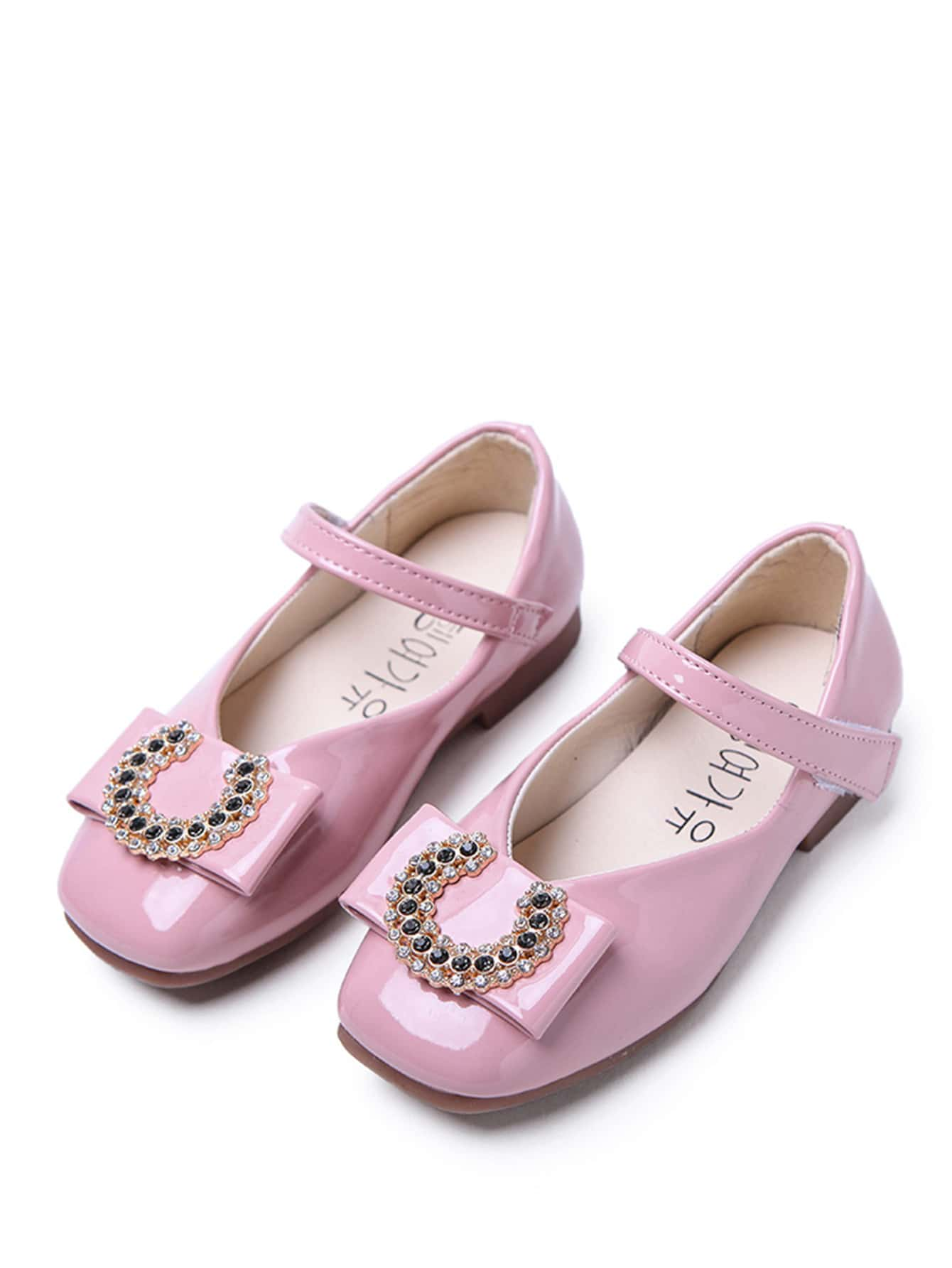 00faf60c6 حذاء مزخرف بحجر الراين للبنات الصغار | شي إن