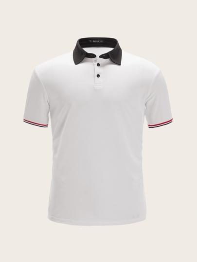 365f8185b929b US Guys Shirts Polo Shirts   ROMWE
