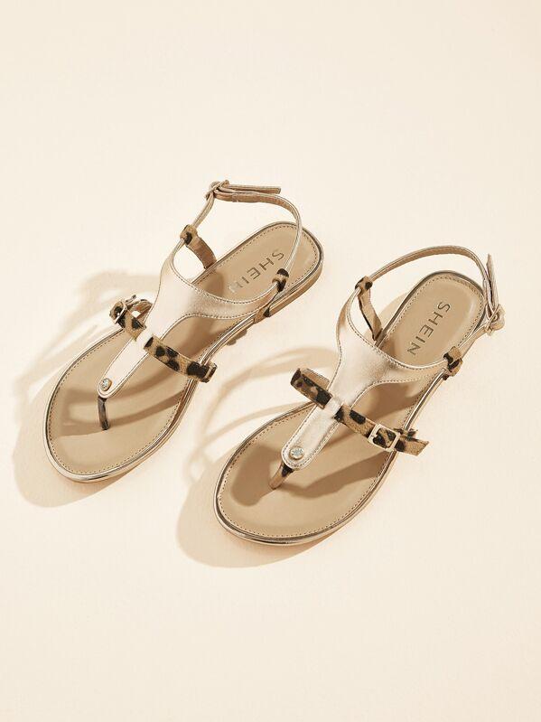 8b3e117199 Cheap Plain Toe Post Sandals for sale Australia | SHEIN
