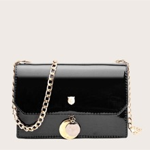 Patent Chain Crossbody Bag