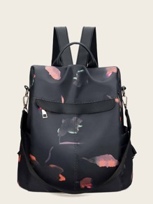 Zip Around Back Detail Backpack