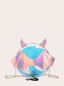 Iridescent Round Shaped Chain Bag