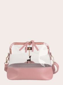 Deer Charm Clear Crossbody Bag