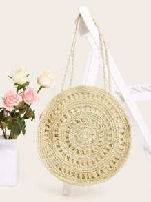 Cut-out Round Tote Bag