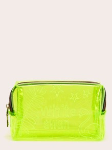 Neon Green Water-proof Makeup Bag