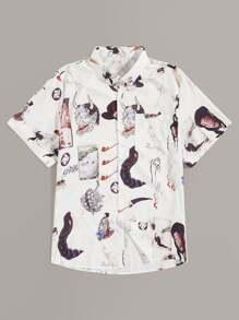 Guys Animal And Figure Print Shirt