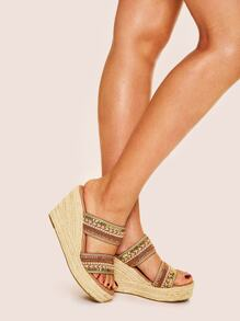 Tribal Chevron Pattern Wedges