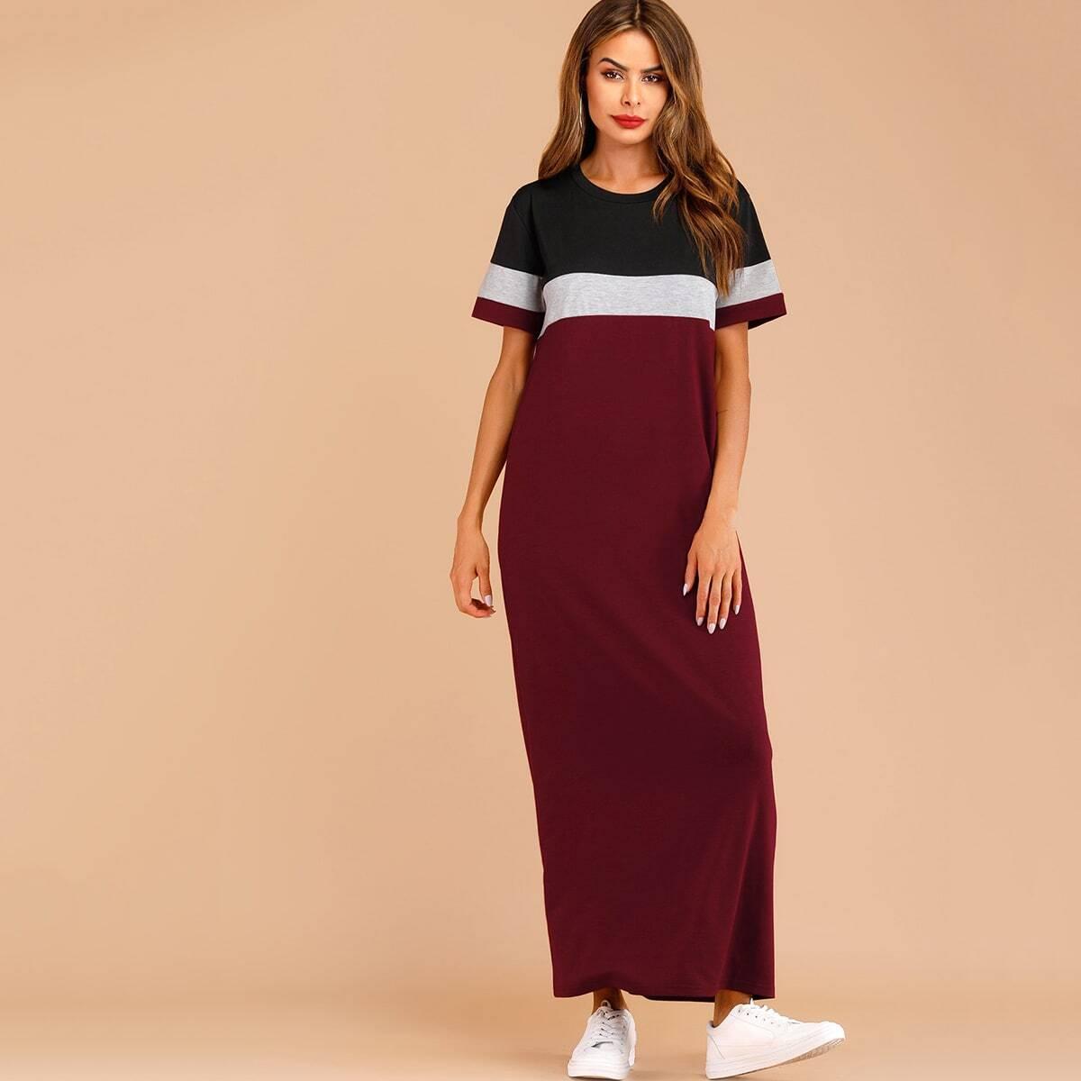 Color-block Tee Dress