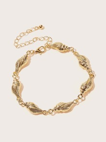 Shell Design Chain Anklet 1pc