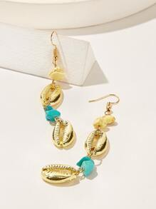 Shell & Stone Design Drop Earrings 1pair