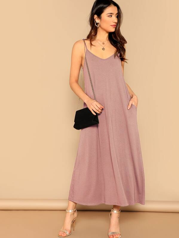 301166f99a Pocket Patched Swing Cami Dress