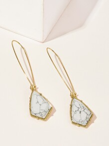 Marble Pattern Detail Drop Earrings 1pair