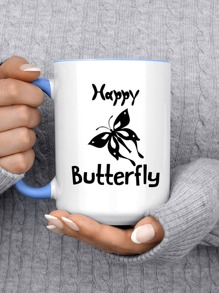 Butterfly Print Cup Sticker