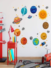 Planet Print Wall Sticker