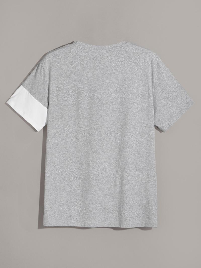 competitive price bfe90 d21ae Männer Cut und Sew T-Shirt mit rundem Ausschnitt
