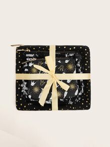Sequin And Crown Detail Bag Sets 3pcs