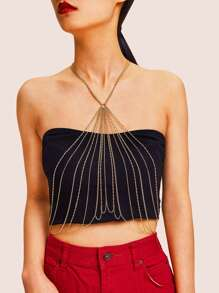 Halter Layered Harness Body Chain 1pc