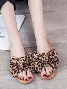 Leopard Bow Decor Sliders