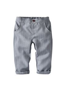 Toddler Boys Striped Roll Up Pants