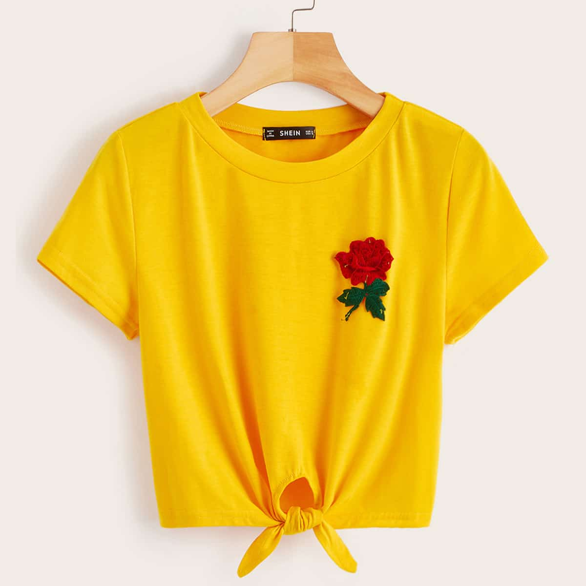 Geel Casual T-shirts Appliques