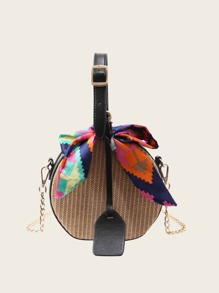 Twilly Scarf Woven Detail Bag