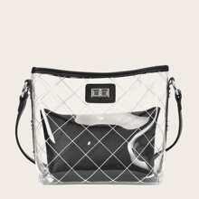 Clear Crossbody Bag With Inner Clutch