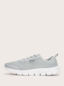 Lace-up Front Mesh Trainers