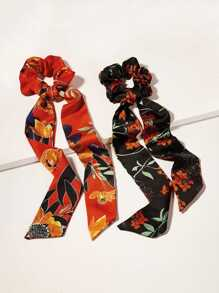 Floral Scrunchies Scarf 2pack