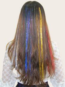 Clip In Hair Tinsel 10pack