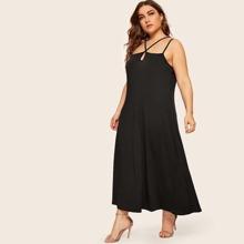 SHEIN | Plus Criss Cross Maxi Dress | Goxip