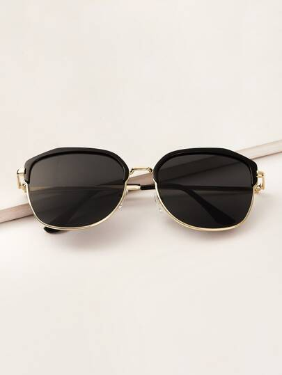 Guys Browline Frame Sunglasses