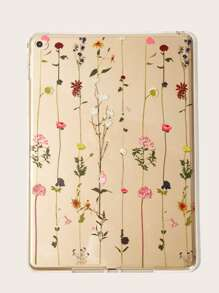 Flower Pattern Transparent iPad Case