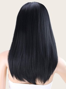 Natural Straight Wig With Bangs