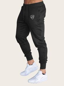 Men Drawstring Waist Pants