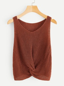 Twist Hem Knit Top