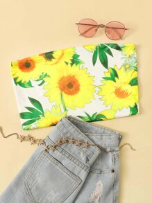 Sunflower Print Tube Top