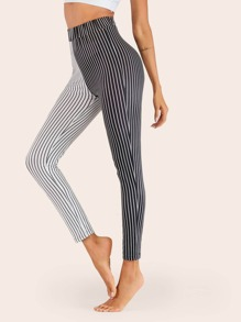 Striped Two Tone Leggings