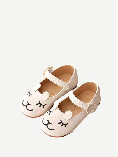 Baby Cartoon Pattern  Flats