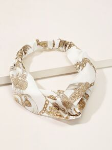 Chain Print Twist Headband