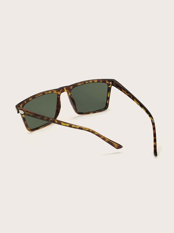 555cefd659 Men Tortoiseshell Frame Tinted Lens Sunglasses