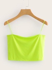 Neon Lime Solid Cami Top