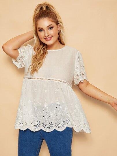 1f919efc42b Women's Plus Size Blouses, Shirts & Tops | SHEIN