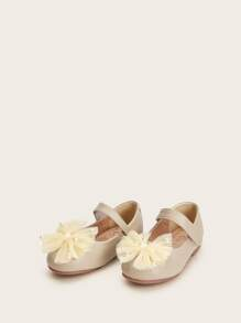 Baby Pearl & Bow Tie Decor Flats