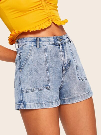 b9e41829f3 Denim Shorts | Denim Shorts Sale Online | ROMWE