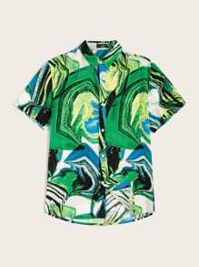 Men Abstract Print Shirt