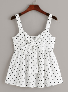 Polka Dot Knot Cami Top