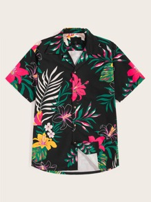 Guys Tropical Print Shirt