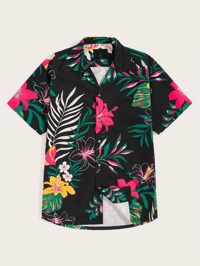 bajo precio precio bajo elige el más nuevo Camisa para hombres con estampado tropical