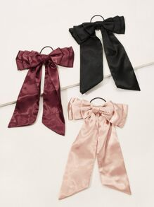 Bow Decor Hair Tie 3pack